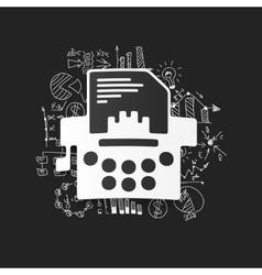 Drawing business formulas typewriter vector image