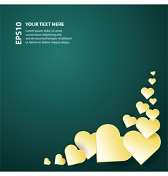 festive card with decorative hearts vector image vector image