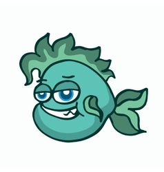 Green fish for kids t-shirt design vector image