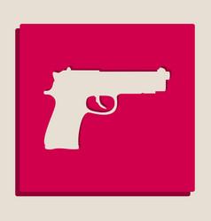 Gun sign grayscale version vector
