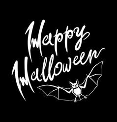 Happy Halloween bat message design background EPS vector image vector image