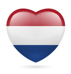 Heart icon of Netherlands vector image