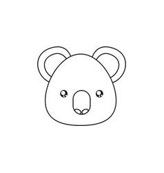 koala drawing face vector image