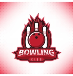 logo of bowling club vector image