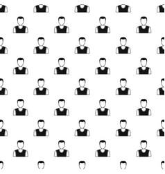 Man avatar pattern vector