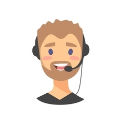 Portrait of happy smiling male customer support vector image vector image
