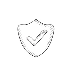 Quality is confirmed sketch icon vector image vector image