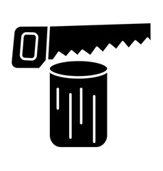 saw log - chainsaw icon vector image
