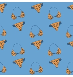 Seamless pattern with hand drawn swimming suit vector image