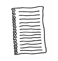 shirt of paper icon vector image vector image