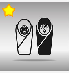 two baby black icon button logo symbol concept vector image