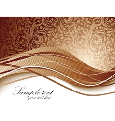 Floral background in brown color vector