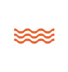 Water waves icon vector
