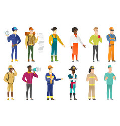 Set of professions characters vector