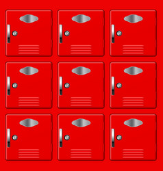 storage safe lockers red section vector image