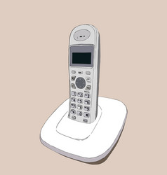 cordless phone vector image