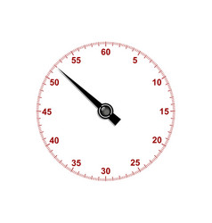 Stopwatch dial with stopwatch hand vector