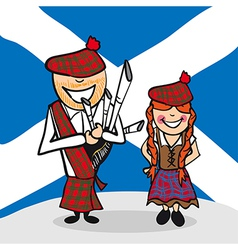 Welcome to scotland people vector