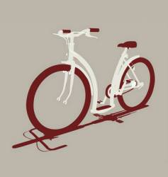 Cycle front view vector