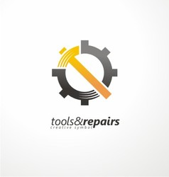Industrial logo design vector