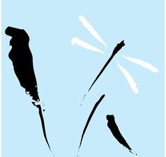 Zen dragonfly vector