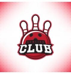 symbol of bowling club vector image