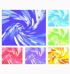 Abstract light vortex different colors vector