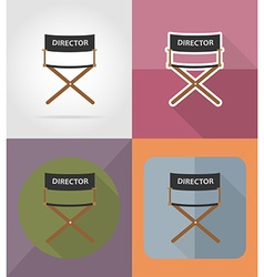 cinema flat icons 02 vector image vector image