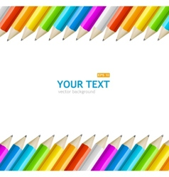 Colorful rainbow pencil text banner vector image vector image