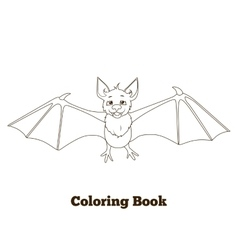 Coloring book forest animal bat cartoon vector image vector image