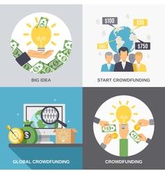 Crowdfunding 2x2 design concept vector