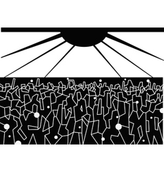 Dancing people - abstract vector