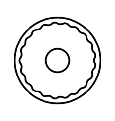 Donut outline icon vector image