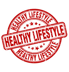 Healthy lifestyle stamp vector