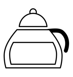 honey tea icon outline style vector image