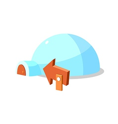 icon igloo vector image vector image