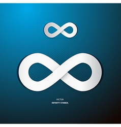 Infinity Symbol on Blue Background vector image vector image