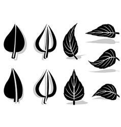 Leaf Symbol 01 vector image vector image