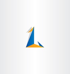 Logo letter l triangle icon sign vector