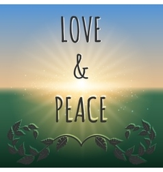 Love and peace boho style background vector