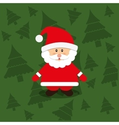 Merry christmas santa claus card vector image vector image