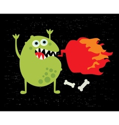 Monster with fire vector image