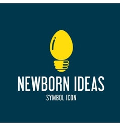 New born ideas concept symbol icon or logo vector