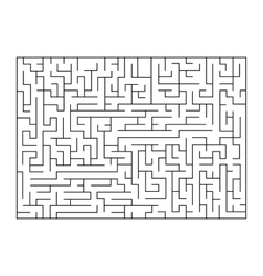 painting of maze labyrinth Isolated on vector image