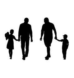 parents with kids vector image vector image