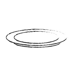 plate dishware icon image vector image