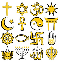 religious symbols vector image