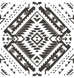 Seamless colorful aztec pattern pencil drawing vector