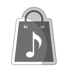 Shopping bag with music note vector
