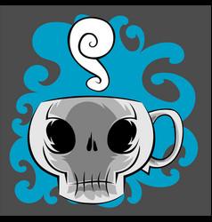 skull coffee mug vector image